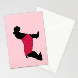German Schnauzer Dog Print on Pink Stationery Cards