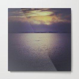 Sunset at Agate Beach Metal Print
