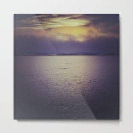 Sunset at Agate Beach Metal Print