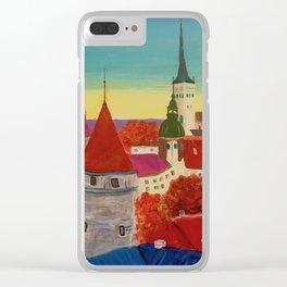 Golden Hour in Tallinn Clear iPhone Case