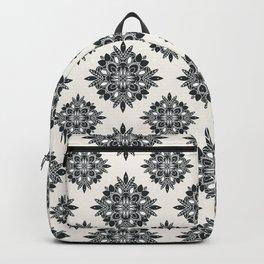 Black Foliage Tile Pattern Backpack