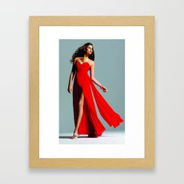 Red Dress Framed Art Print