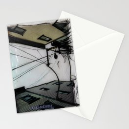 Wires in North Beach San Francisco Stationery Cards