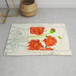 Perspective on Flowers Rug