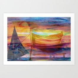 Colorful Drifter - Lake Life Art Print