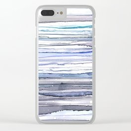 Dreamy Blues Clear iPhone Case