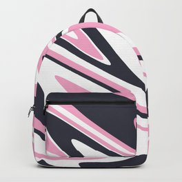 Hot pink, white & purple marble Backpack