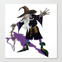 wizard Canvas Prints featuring Wizard by Noughton