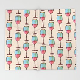 Abstract Modern Wine Art / Wine Tasting Throw Blanket