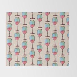 Abstract Modern Wine Art / Wine Tasting Throw Blanket