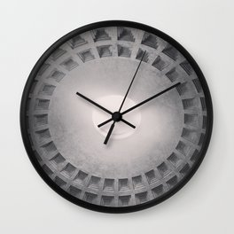 The Pantheon dome, architectural photography, Michael Kenna style, Rome photo Wall Clock