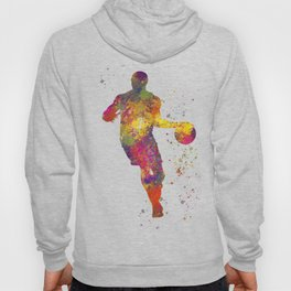 Basketball player 06 in watercolor Hoody