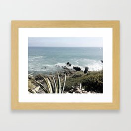 the beautiful pacific Framed Art Print