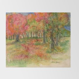 Autumn Woodlands Throw Blanket