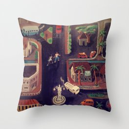 Good Night Victoria, Seychelles Throw Pillow