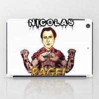 nicolas cage iPad Cases featuring Nicolas Rage by Butt Ugly Co