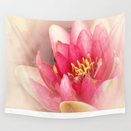 Pink Waterlily Pastel Wall Tapestry