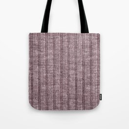 Dusty Pink Jersey Knit Pattern Tote Bag