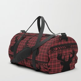 Flannel with Buck & Indian Duffle Bag