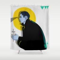 vampire Shower Curtains featuring Vampire by Musya