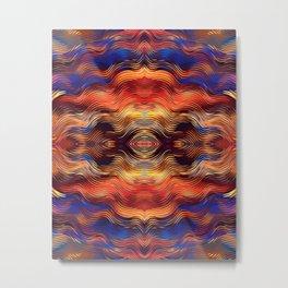 Beautiful Boho Ethnic Vibe Southwestern Sunset Colors Abstract Metal Print