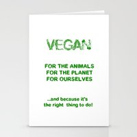 vegan Stationery Cards featuring Why Vegan? by VegArt