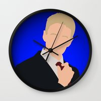 how i met your mother Wall Clocks featuring Barney Stinson - How I Met Your Mother by Tom Storrer