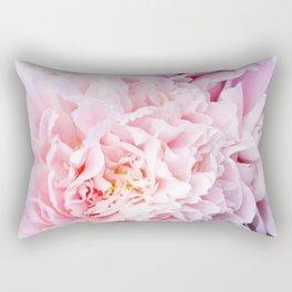 Peony Flower Photography, Pink Peony Floral Art Print Nursery Decor A happy life - Peonies 3 Rectangular Pillow