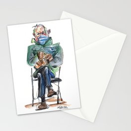 Bernie Sitting - watercolor drawing Stationery Cards