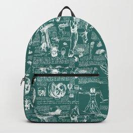 Da Vinci's Anatomy Sketchbook // Genoa Green Backpack