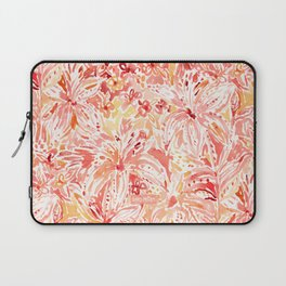 LILY LUST Peach Painterly Floral Laptop Sleeve