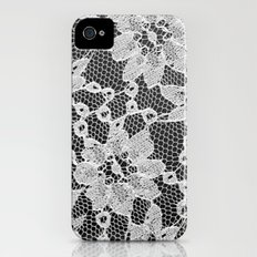 black and white laced Slim Case iPhone (4, 4s)