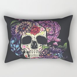 Day of the dead skull with flowers Rectangular Pillow