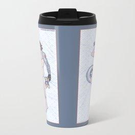Bucky Pinup Heroic Nude Metal Travel Mug