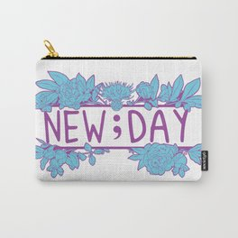 New;Day Purple and Cyan Carry-All Pouch