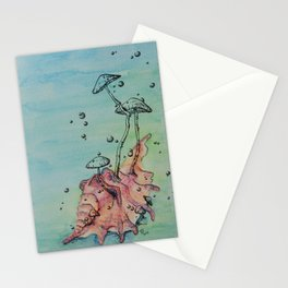 Ocean Fungi Party: Fourth Stationery Cards