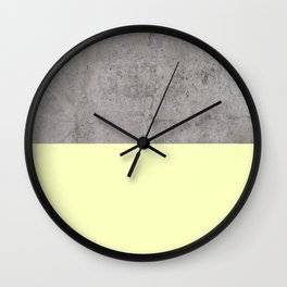 Yellow on Concrete Wall Clock