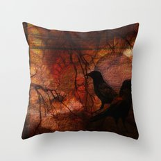RAVENS WORLD edited Throw Pillow