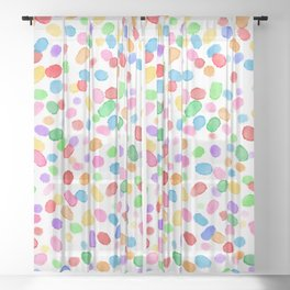 Paint Specks - Colour Swirl Variant Sheer Curtain