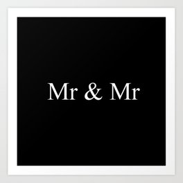 Mr & Mr Monogram Simple Art Print