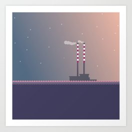 Poolbeg Dublin Art Print