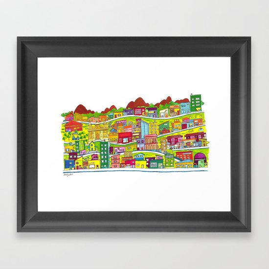 Casinhas Framed Art Print