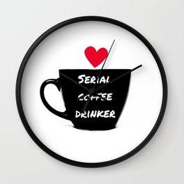 Serial Coffee Drinker Wall Clock