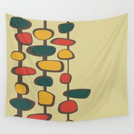 Mid Century Modern Baubles (gold) Wall Tapestry