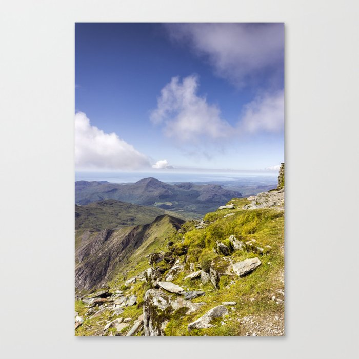 Snowdon To Anglesey Canvas Print
