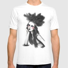 Show Girl MEDIUM White Mens Fitted Tee