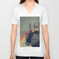 robocop V-neck T-shirts featuring RoboCop Love by Perry Misloski
