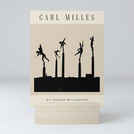 Modern poster -The Swedish sculptor Carl Milles- Angels. Mini Art Print