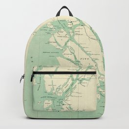 Vintage Map of British Columbia (1893) Backpack