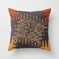 ethnic Throw Pillows featuring Ethnic by Sonia Marazia